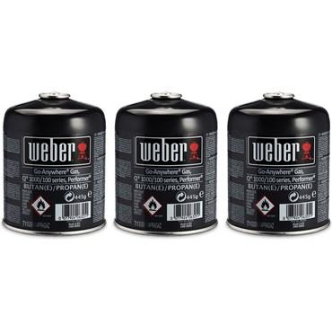 Weber Engångsgasolflaska 445 g 3 Styck