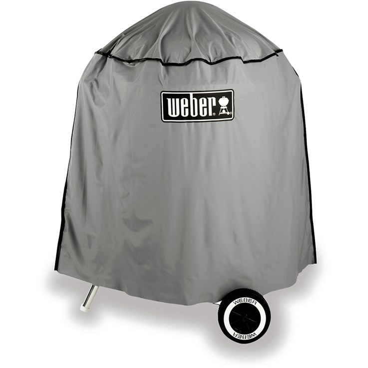 "Weber Cover, full-length vinyl, for 18.5"" charcoal grills."