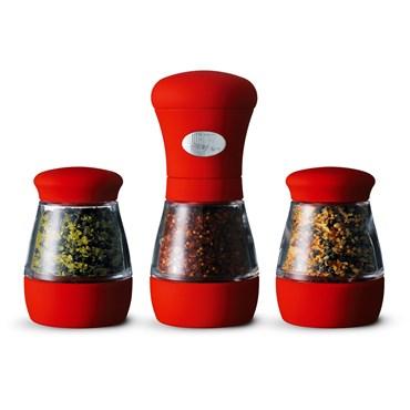 Weber Style Lifestyle Kryddkvarn Och Två Styck Kryddglas Röd