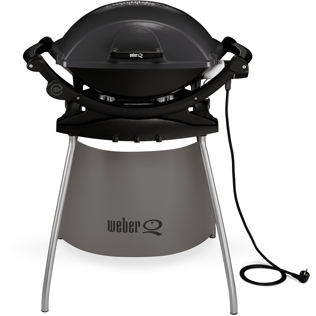 weber q 140 och stativ elgrill m rkgr grillbutiken webshop. Black Bedroom Furniture Sets. Home Design Ideas